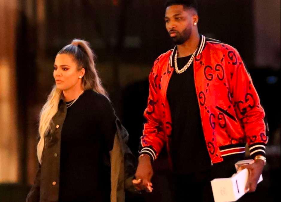 Khloé Kardashian reaparece junto a Tristan Thompson, y sigue sin bajar de peso