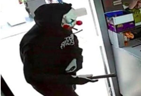 Payaso enmascarado intenta robar gasolinera en Nueva Jersey